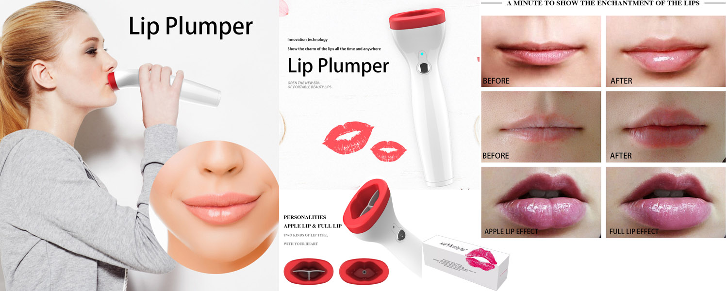Electric lip suction plumper device